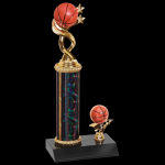 Twisted Trophy -Basketball Single Column Trophies