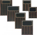 Step Edge Genuine Walnut Perpetual Plaque Small Perpetual Plaques