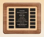 American Walnut Frame Perpetual Plaque Small Perpetual Plaques