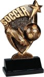 Soccer Broadcast Resin Soccer Trophy Awards