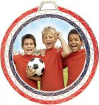 Red, White and Blue Bling Insert Holder Medal Soccer Trophy Awards