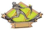 Softball Diamond Star Plate Resin Trophy Softball Trophy Awards
