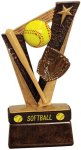 Softball Trophy Band Resin Softball Trophy Awards