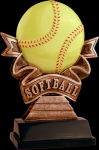Ribbon Softball Resin Softball Trophy Awards