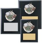 Black Finished Sports Plaque with Color Figure Sports Plaques