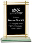 Contemporary Full Border Glass Award Square Rectangle Awards