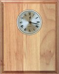 Genuine Red Alder Clock Plaque Square Rectangle Awards