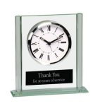 Square Glass Desk Clock Square Rectangle Awards