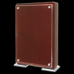 Rosewood Piano Finish Stand-UP with Magnetic Standoffs Square Rectangle Awards