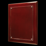 Rosewood Piano Finish Floating Plaque with Magnetic Standoffs Square Rectangle Awards