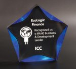 Black/Blue Luminary Star Acrylic Award Star Acrylic Awards
