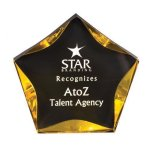 Black/Gold Luminary Star Acrylic Award Star Awards
