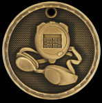 3D Swimming Medal Swimming Trophy Awards