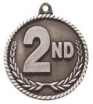 High Relief 2nd Place Medal Tennis Trophy Awards