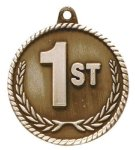 High Relief 1st Place Medal Tennis Trophy Awards