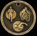 3D Triathlon Medal Track Trophy Awards
