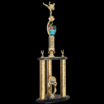Two Tier Customized Martial Arts Trophy Two Tier Trophies