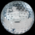 Crystal Golf Ball Paperweight Sport Crystal Awards